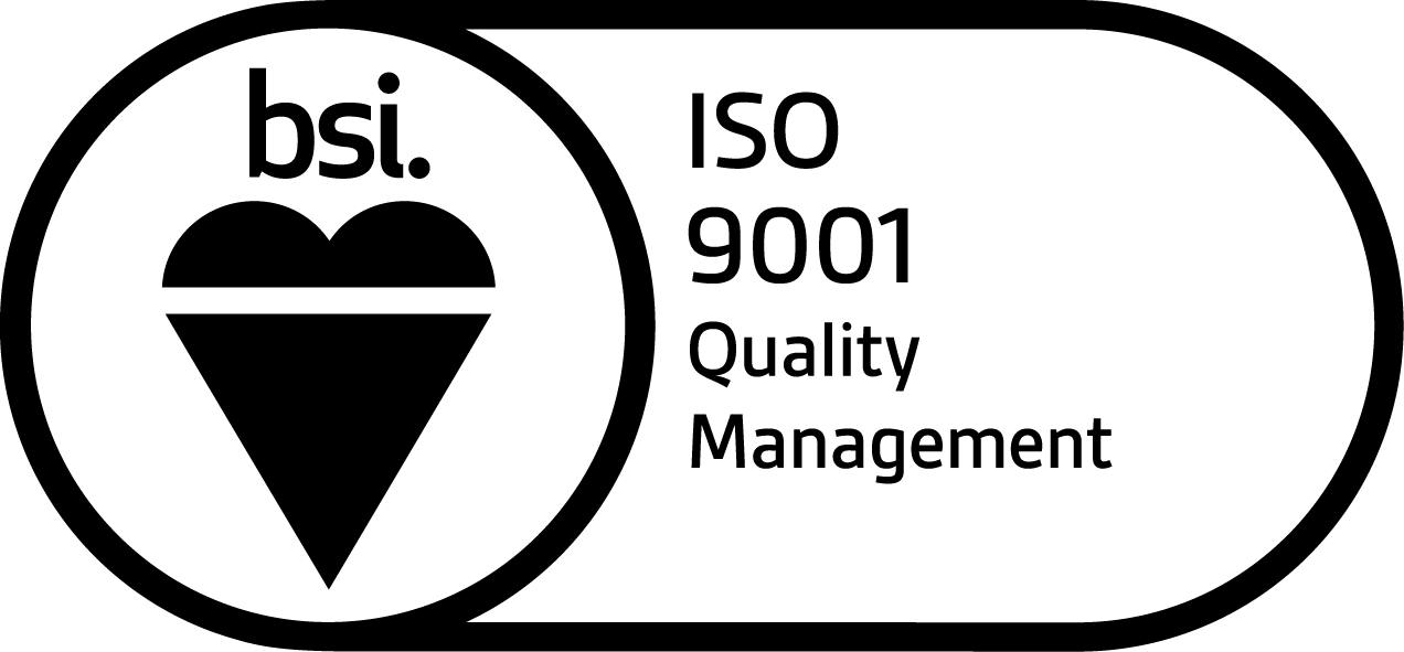 BSI black keyline Assurance Mark