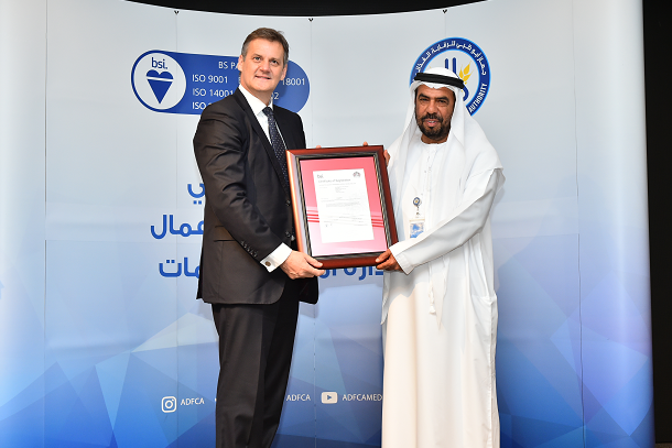 Abu Dhabi Food Control Authority achieves certification to ISO 22301 and ISO/IEC 27001