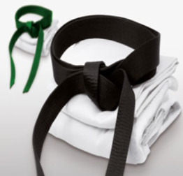 Green and black belt