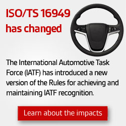 Read more about ISO/TS 16949 change