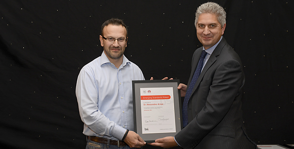 Emerging Standards Maker is awarded to Dr Alessandro Artusi