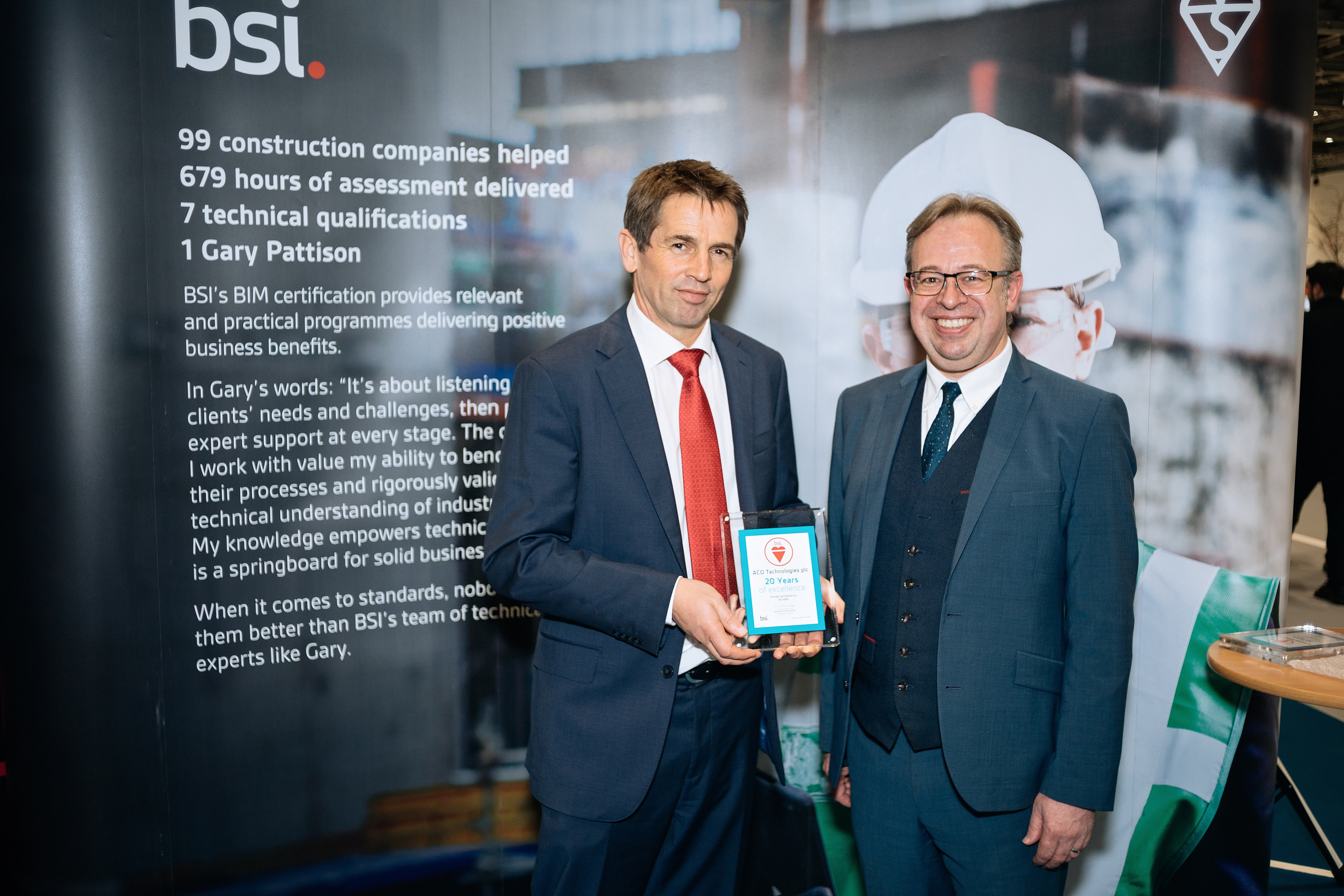 ACO Technologies receive an award for 20 years of ISO 9001, Quality Management