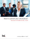 ISO 27001 product brochure cover