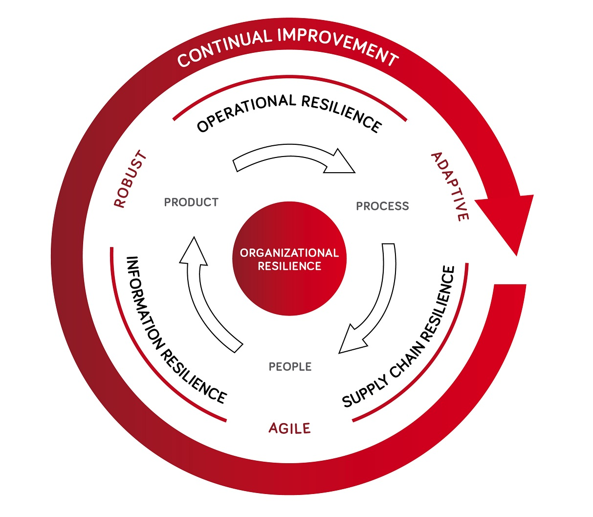 organizational resilience elements graphic