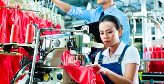 Retail, apparel and footwear - Sewing in factory