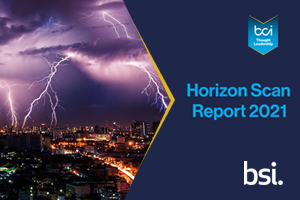 Get the latest insight on future threats, alongside past disruptions, in this years' BCI Horizon Scan Report.
