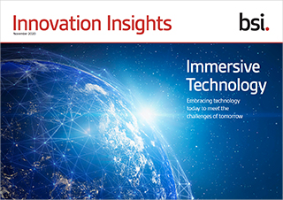 Innovation Insights cover with globe - Immersive technology