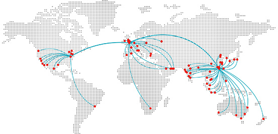Map of BSI global offices