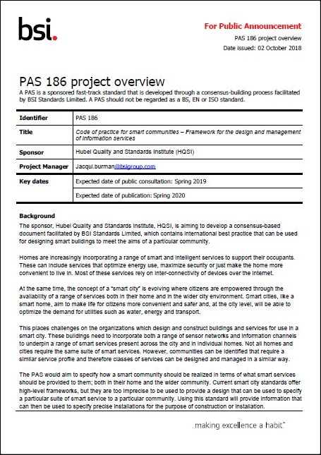 PAS 186 Project | BSI Group