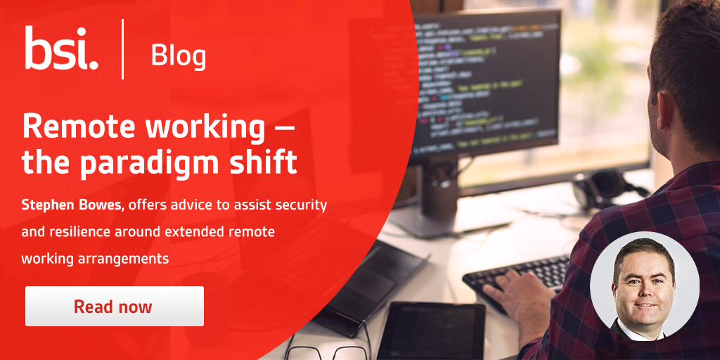 Remote working - the paradigm shift