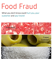 Food supply chain integrity and food fraud prevention