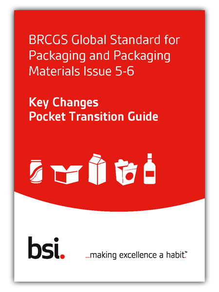 BRCGS Packaging Pocket transition guide