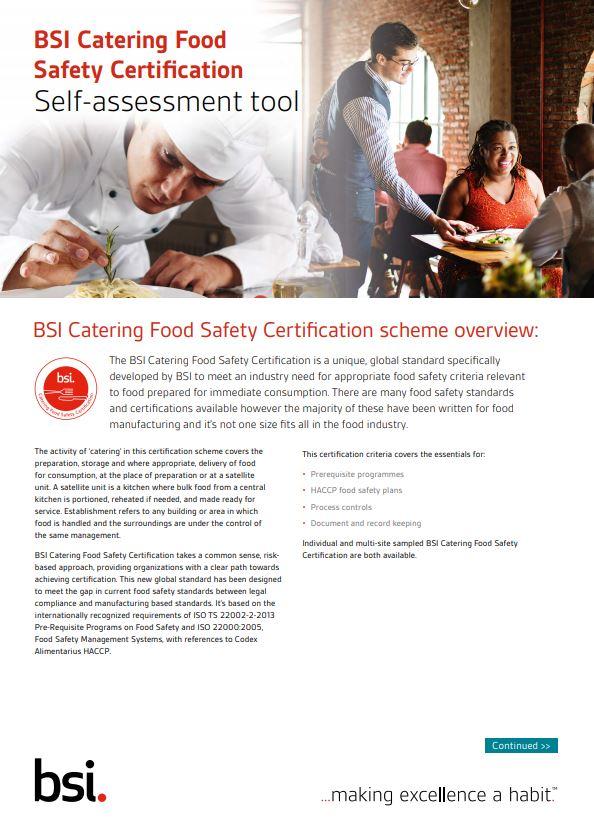 BSI Catering Certification | BSI America