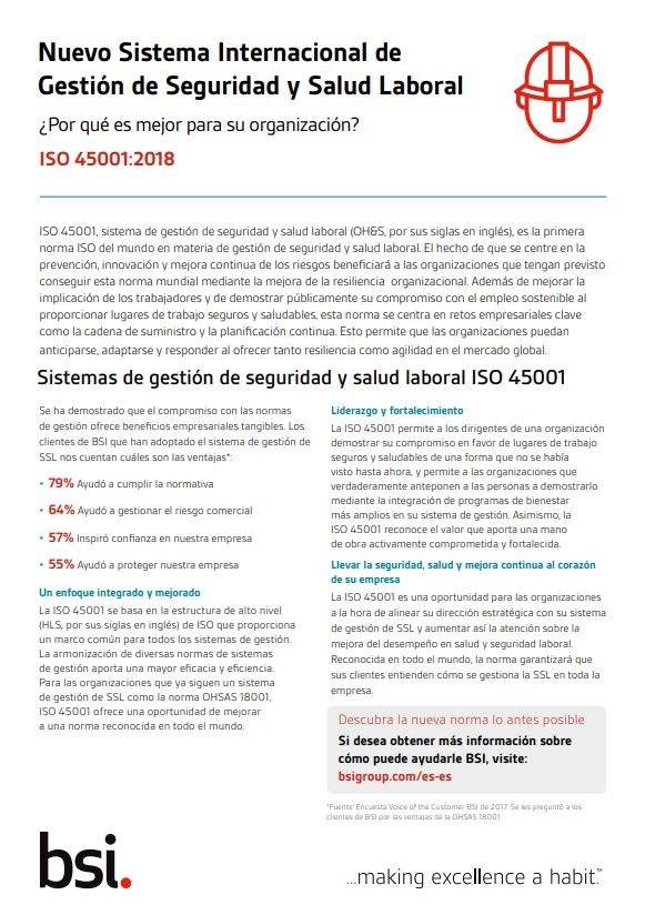 iso 45001 pdf 2018 descargar gratis