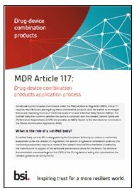 Drug-device combination products under MDR Article 117 notified body opinion