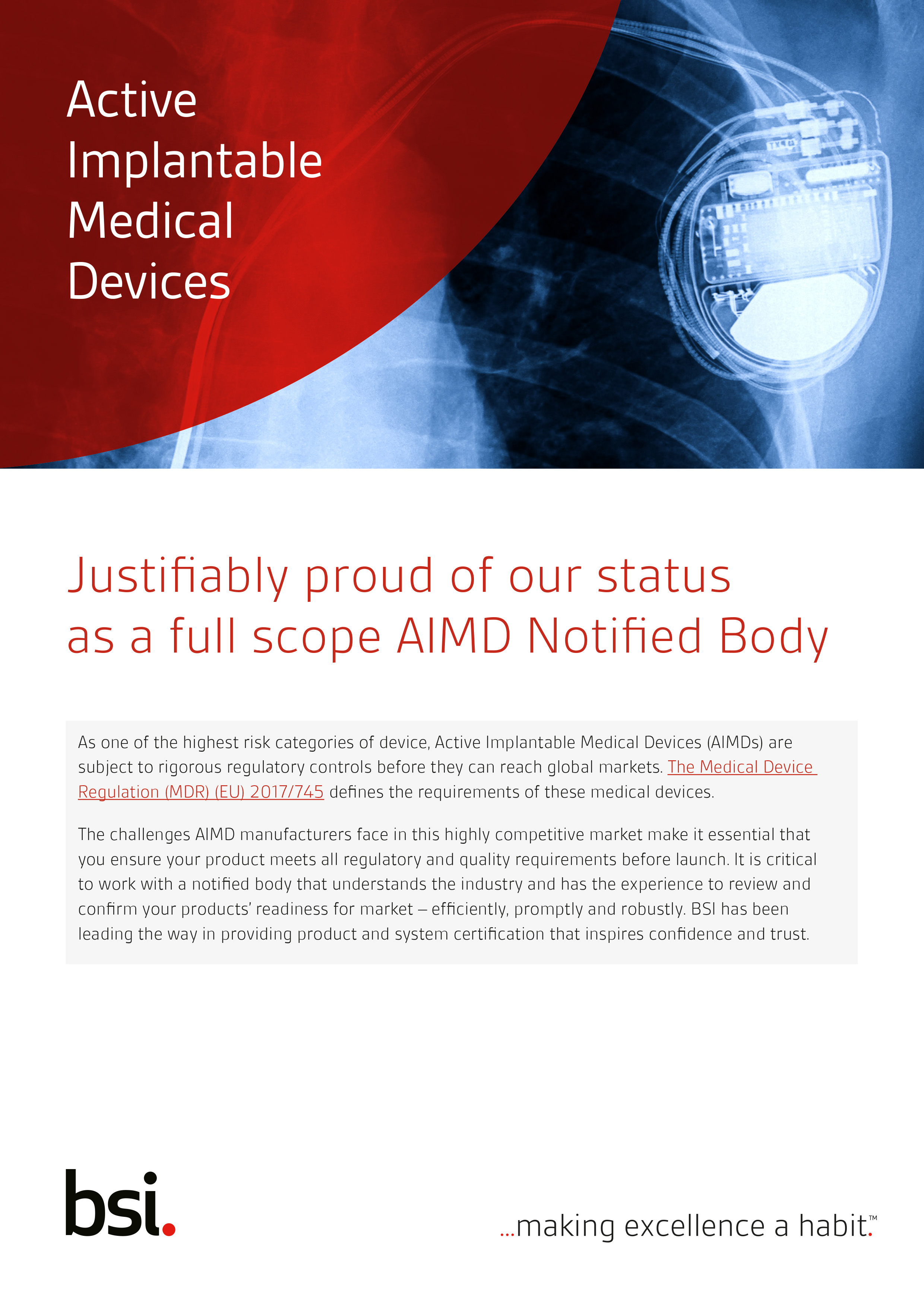 AIMD Active Implantable Medical Device BSI