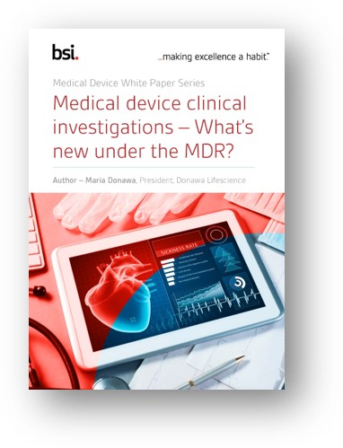 Medical device clinical investigations – What's new under the MDR?