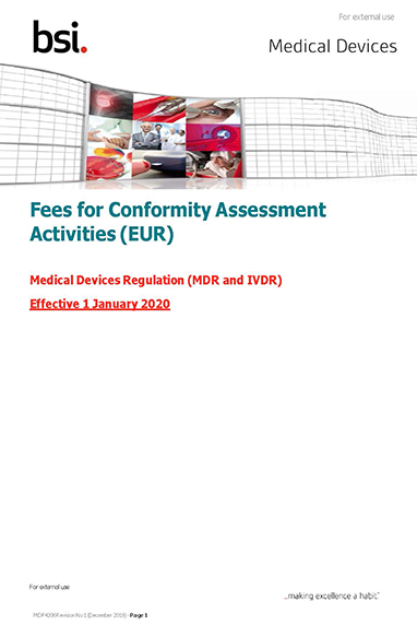 Conformity assessment services and fees