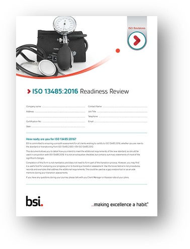 ISO 13485 Readiness Review
