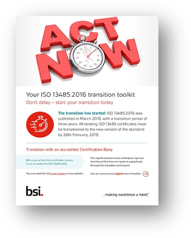 ISO 13485 Transition Toolkit