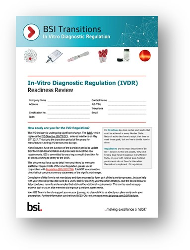 IVDR Readiness Review