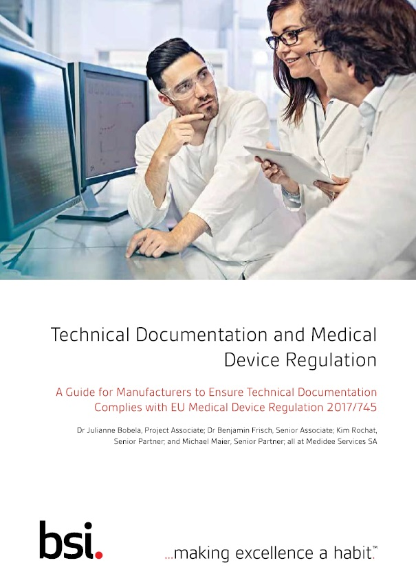 Technical Documentation requirements under the MDR
