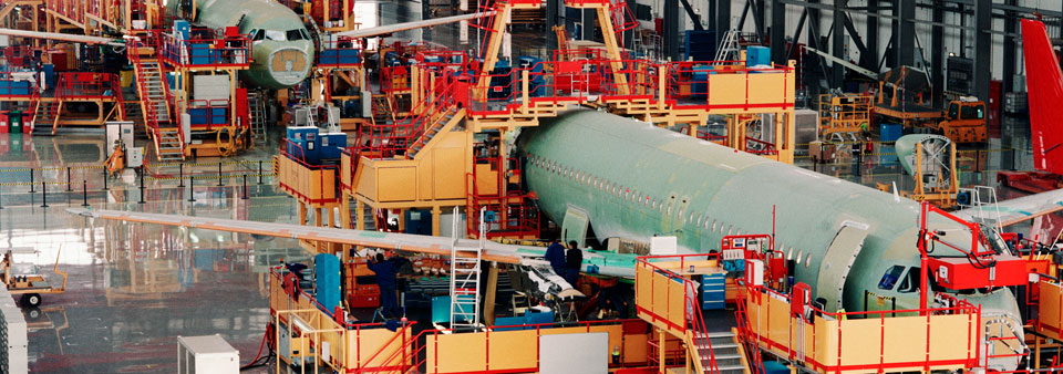 aerospace and automotive - airplane factory