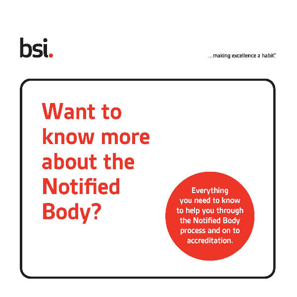 BSI guide to notified bodies