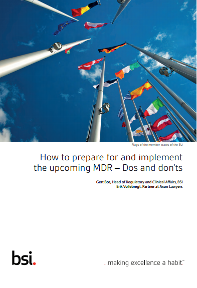 Whitepaper How to prepare for and implement the upcoming MDR